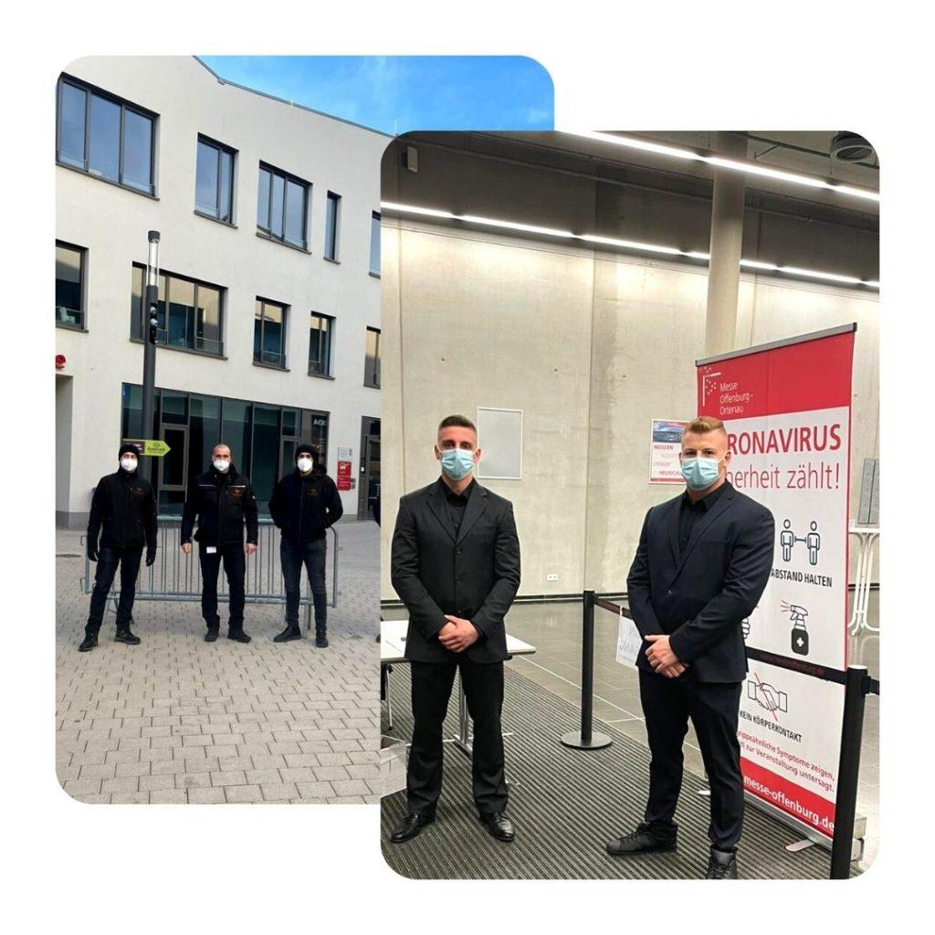 Die Security Mitarbeiter von Confidence Security beim Arbeitseinsatz in der Offenburger Innenstadt